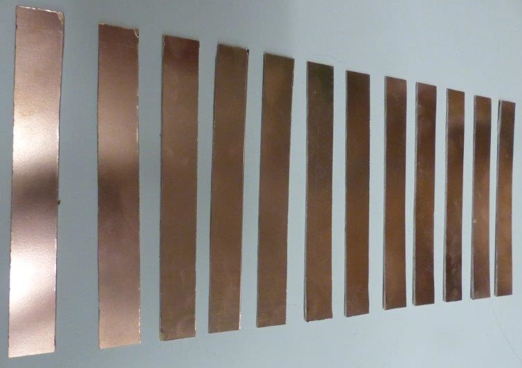 Sliced PCB copper strips